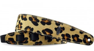 Leather Guitar Strap FANTASY LEOPARD