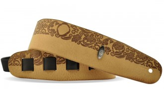 Leather Guitar strap with prints