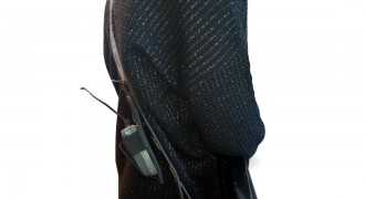 Leather pocket for wireless transmitter or bodypack